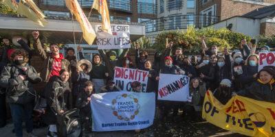Sage workers on strike